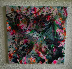"""Death & Art 6"" 12x12 $30"