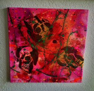 """Death & Art 7"" 12x12 $30"