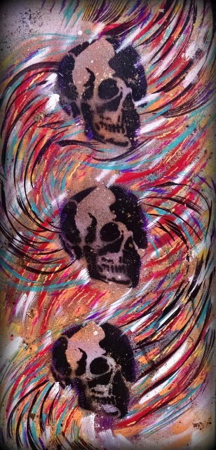 """**SOLD """"Death in the Wind"""" 10x20 $50"""