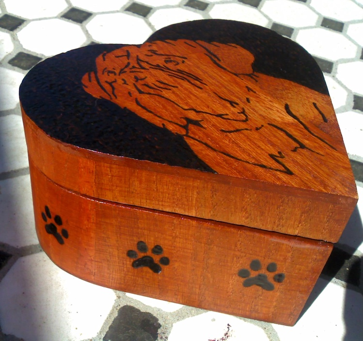 Custom Mastiff Heart Shaped Box $60 ***SOLD***