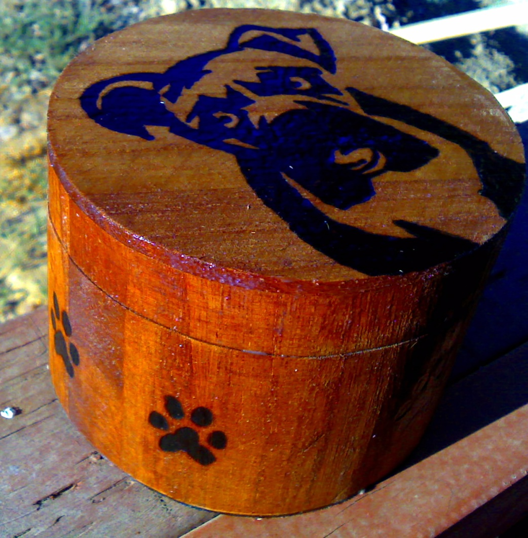 Custom Woodburned and Stained boxes