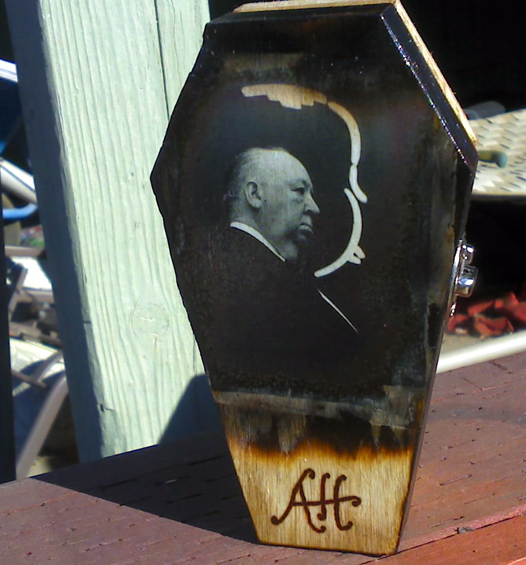 Alfred Hitchcock coffin box