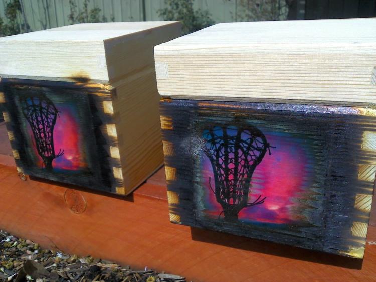 Custom Lacrosse wooden box