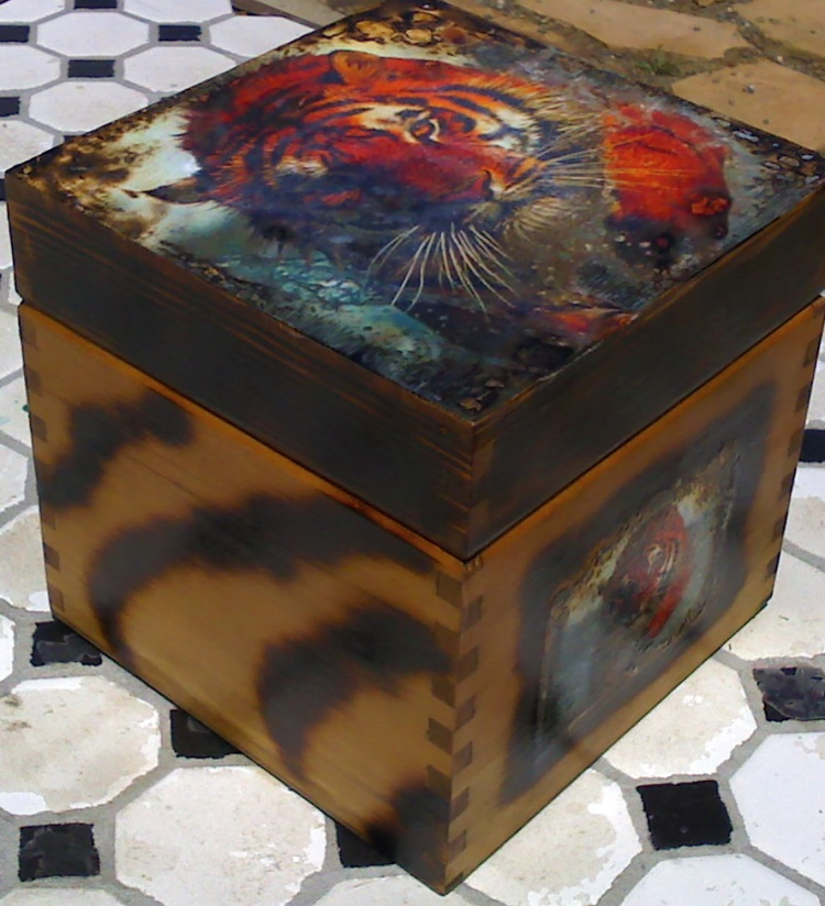 Tiger box found a home....