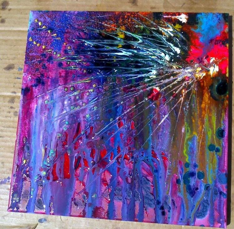 12x12 abstract acrylic painting