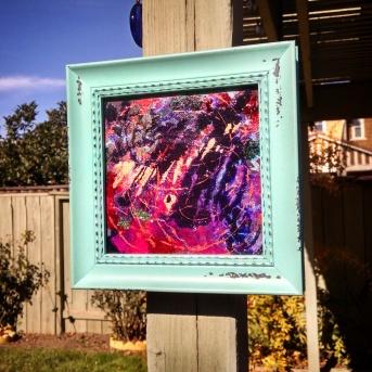 """Purple Rain"" 6x6 framed $50"